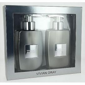 Vivian Gray PLATINUM (Tekuté mýdlo + tělové mléko), 2x250 ml Dárková sada