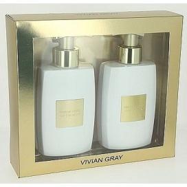 DÁRKOVÁ KAZETA Tekuté mýdlo + tělové mléko Vivian Gray GOLD 1, 2x250 ml