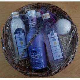 Dárkový set BOTANICO s vůní levandule, koupelová koule, koupelová sůl, 2 mýdla, tělové a pleťové mléko + sprchový gel