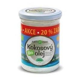 Kokosový olej PURITY VISION BIO, 300 ml + 20% zdarma