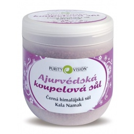 Ajurvédská koupelová sůl Kala Namak PURITY VISION, 1 kg